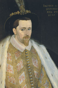 Contemporary portrait of James the First (Sixth of Scotland